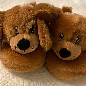 Build a bear puppy kids slippers- size m (12-13)
